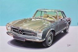 1967 Mercedes Benz 230 SL by Roz Wilson -  sized 36x24 inches. Available from Whitewall Galleries